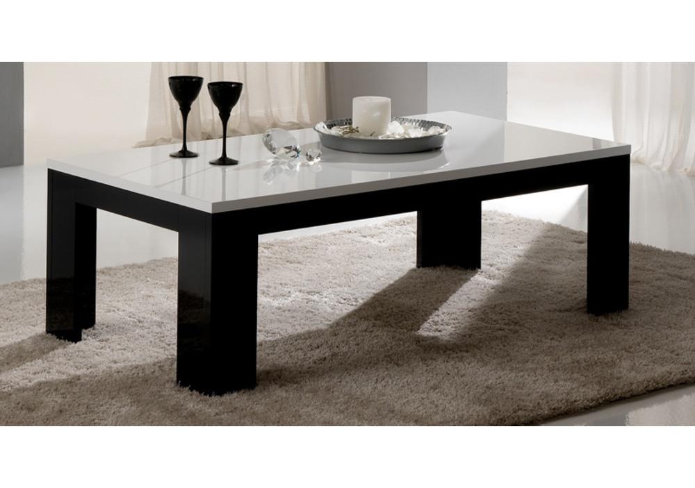 Table Basse Chess Noirblanc Laqué Tables Basses Salon