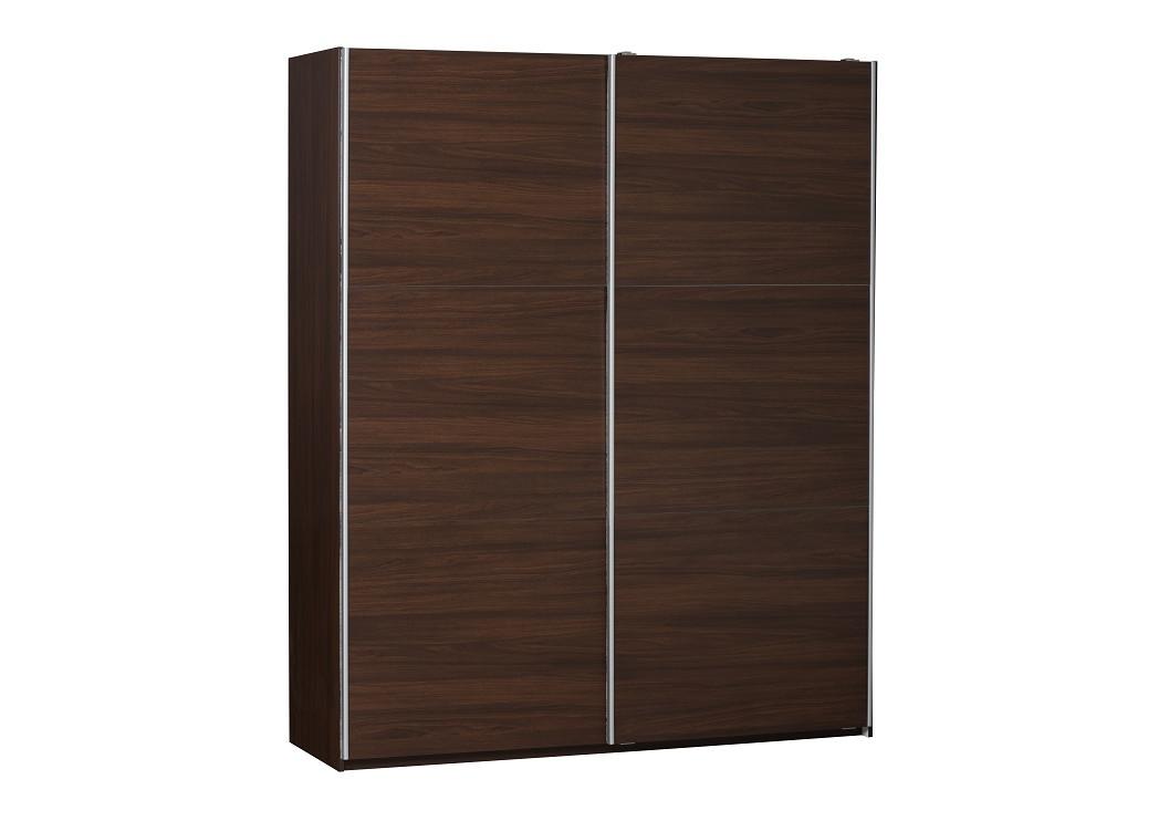 armoire 2 portes coulissantes gala d cor noyer largeur 150 cm rangement. Black Bedroom Furniture Sets. Home Design Ideas