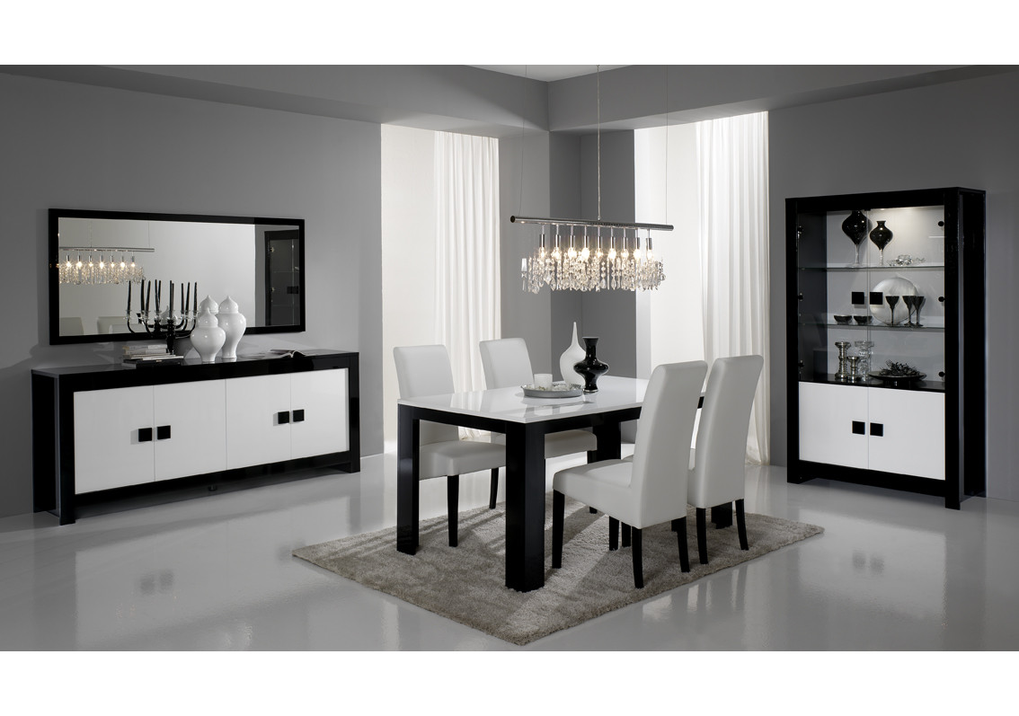 meuble tv chess blanc laqu. Black Bedroom Furniture Sets. Home Design Ideas