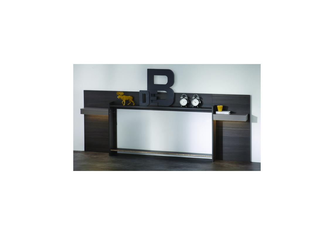 environnement de lit graphic weng 140 x 190 cm lits 2 places chambre. Black Bedroom Furniture Sets. Home Design Ideas