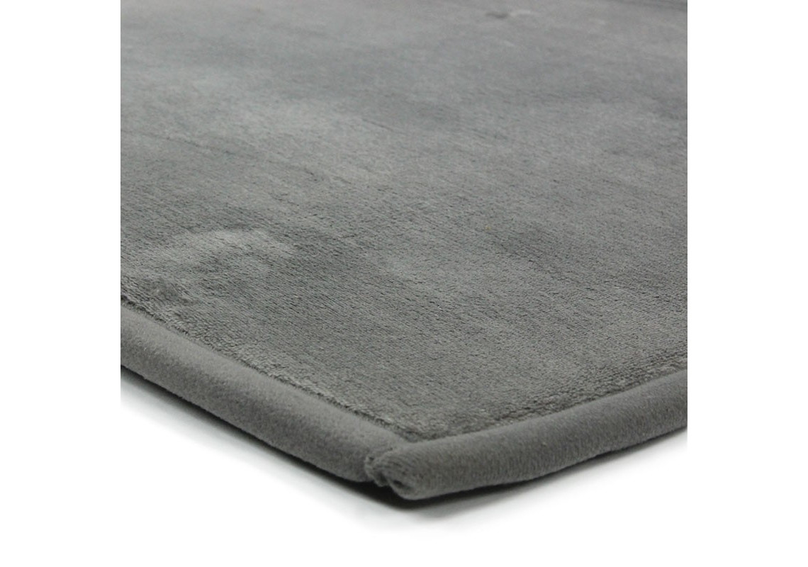 tapis extra doux 120x170cm flanelle gris tapis salon. Black Bedroom Furniture Sets. Home Design Ideas