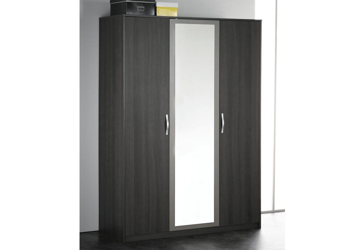 armoire graphic 3 portes wenge. Black Bedroom Furniture Sets. Home Design Ideas