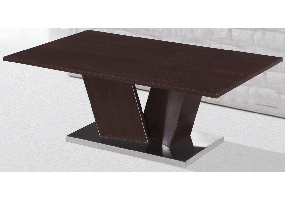 table basse sharp wenge et pied chrom tables basses salon. Black Bedroom Furniture Sets. Home Design Ideas
