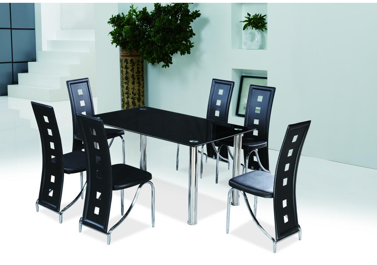 Chaise star pvc noir chaises s jour for Chaise sejour noir