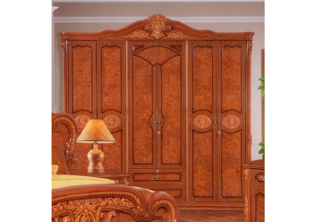 armoire angelina 6 portes 2 tiroirs merisier clair. Black Bedroom Furniture Sets. Home Design Ideas