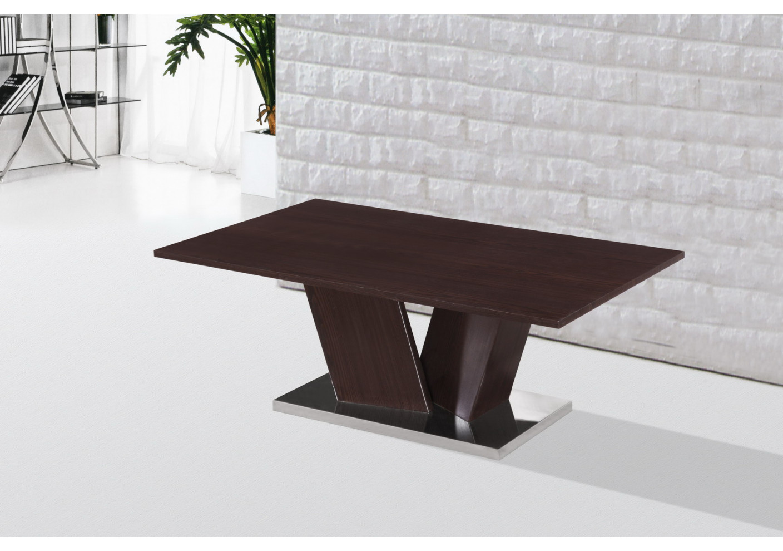 table basse sharp wenge et pied chrom. Black Bedroom Furniture Sets. Home Design Ideas