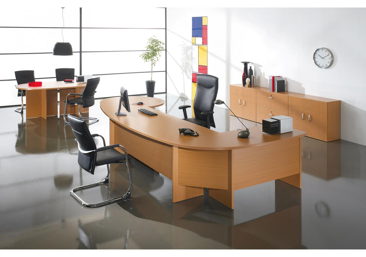 Bureau trigo arc hêtre fonçé bureaux bureau pro