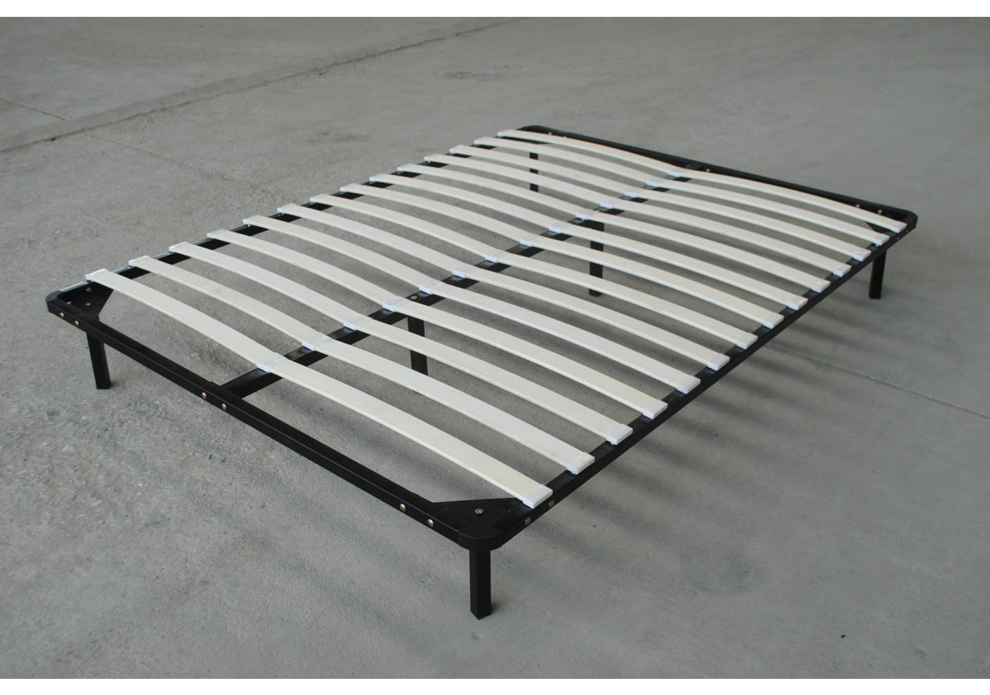 sommier premier 90x190 14 lattes avec pieds literie. Black Bedroom Furniture Sets. Home Design Ideas