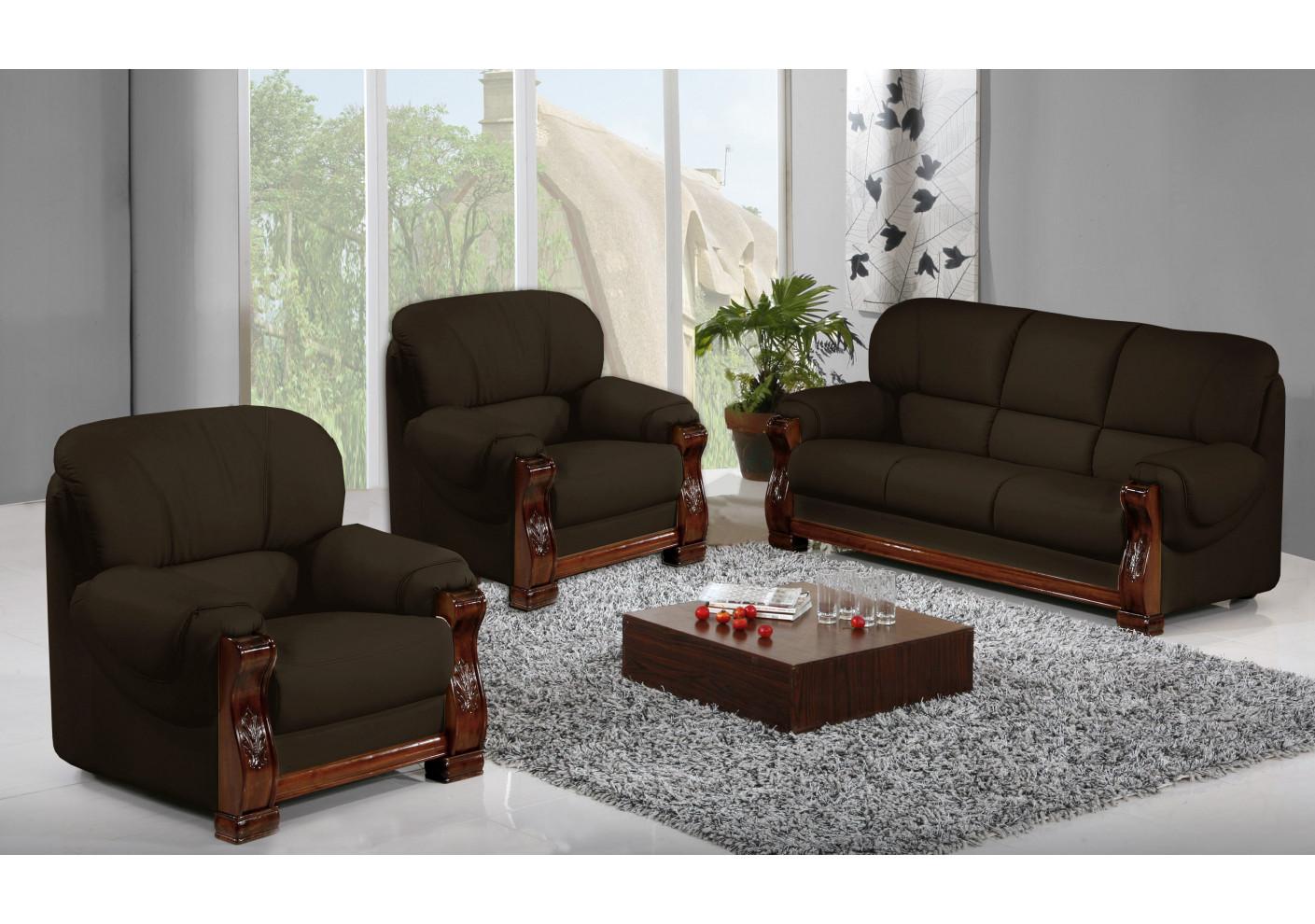 salon 3 pi ces holandia coco 1 canap 3 places 2 fauteuils 1 place. Black Bedroom Furniture Sets. Home Design Ideas