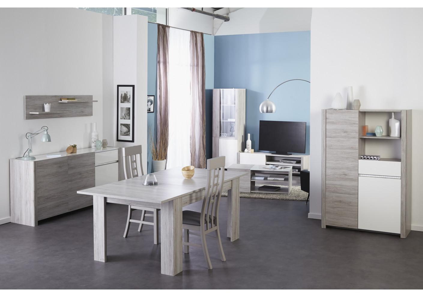 buffet haut gris interesting meuble bois blanc salle a manger buffet haut moderne chene clair