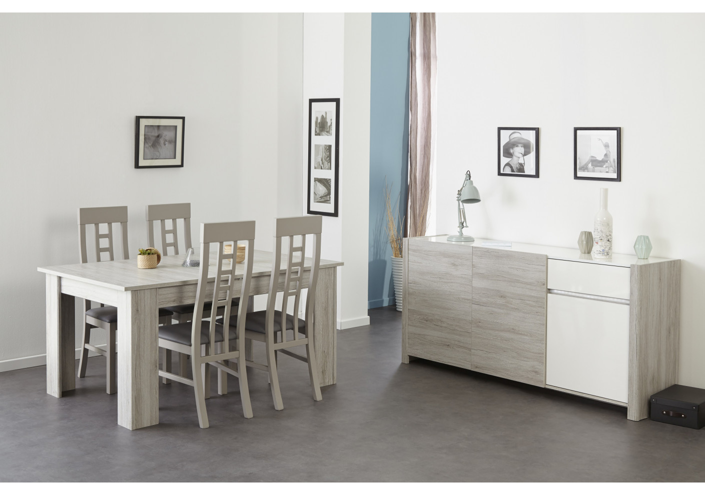 Salon wenge et gris for Peinture wenge meuble
