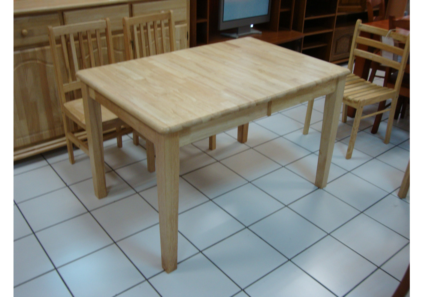 table lenna 6 8 personnes h vea massif rallonge tables. Black Bedroom Furniture Sets. Home Design Ideas