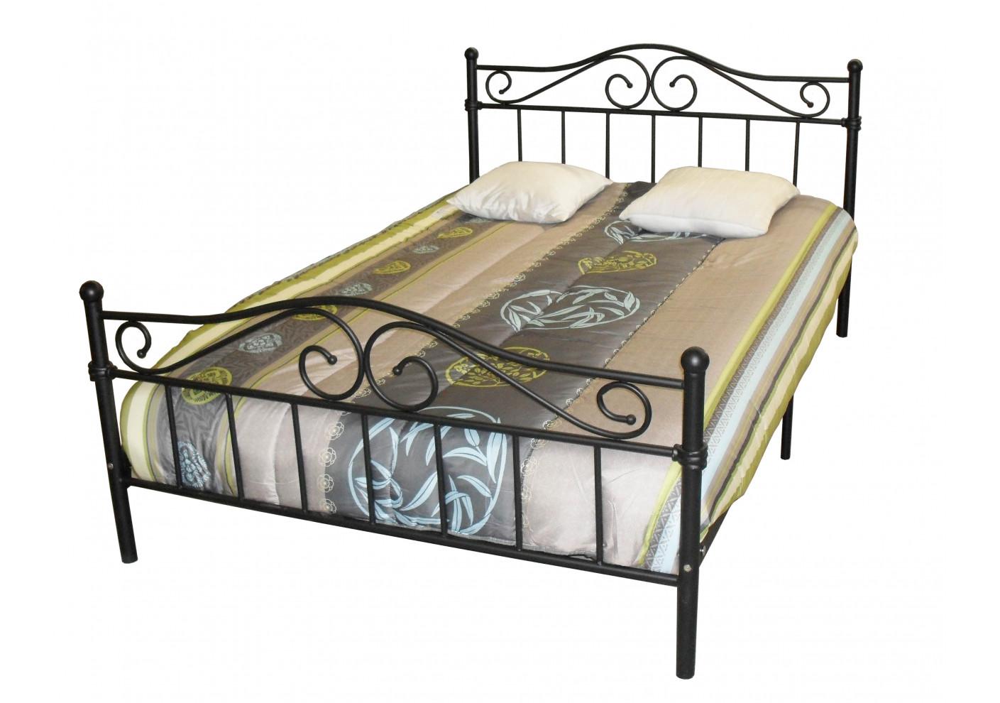 lit mardi blanc 140x190 cm lits 2 places chambre. Black Bedroom Furniture Sets. Home Design Ideas