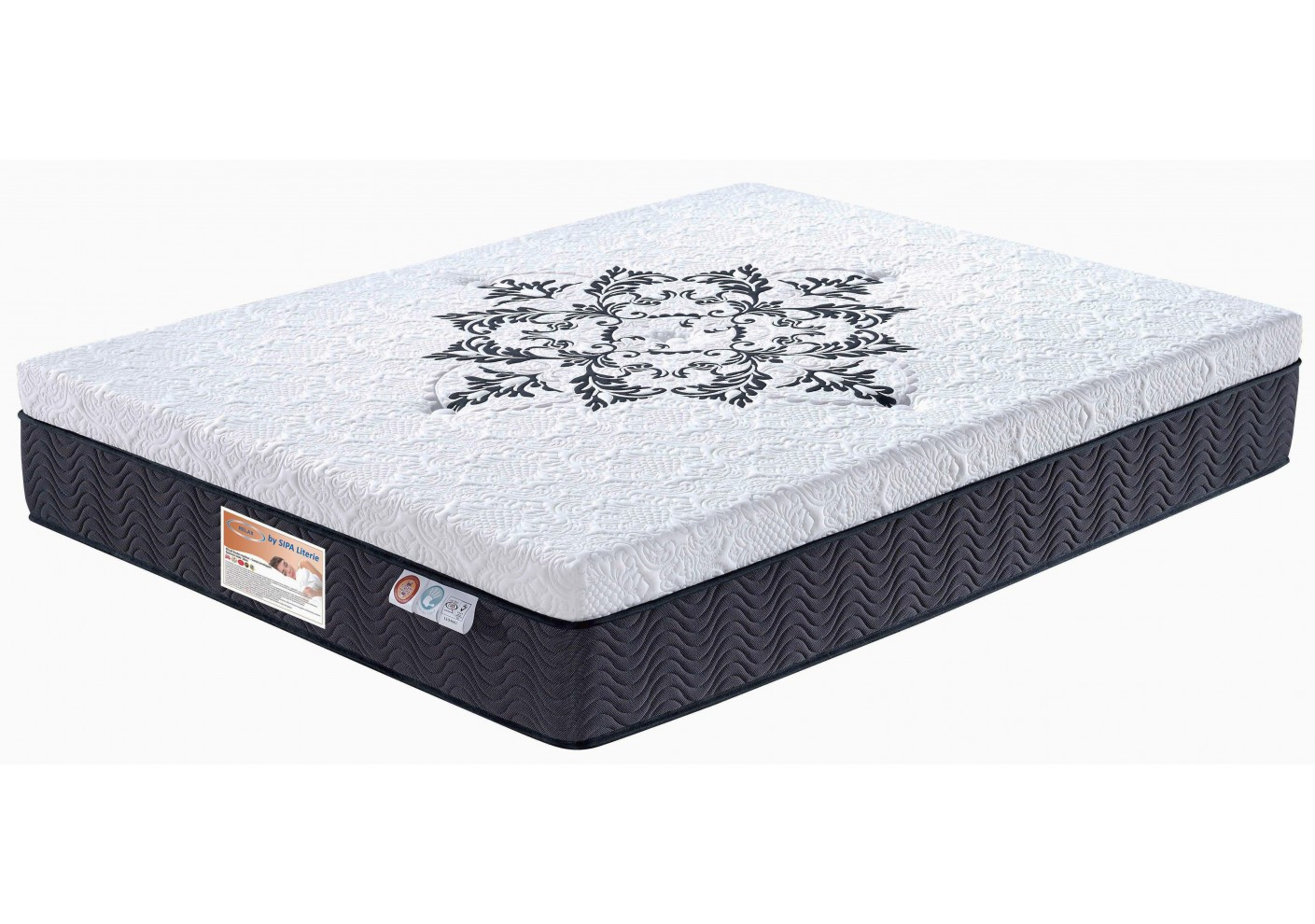 matelas relax 160x200 cm m moire de forme et ressorts ensach s matelas et oreillers literie. Black Bedroom Furniture Sets. Home Design Ideas