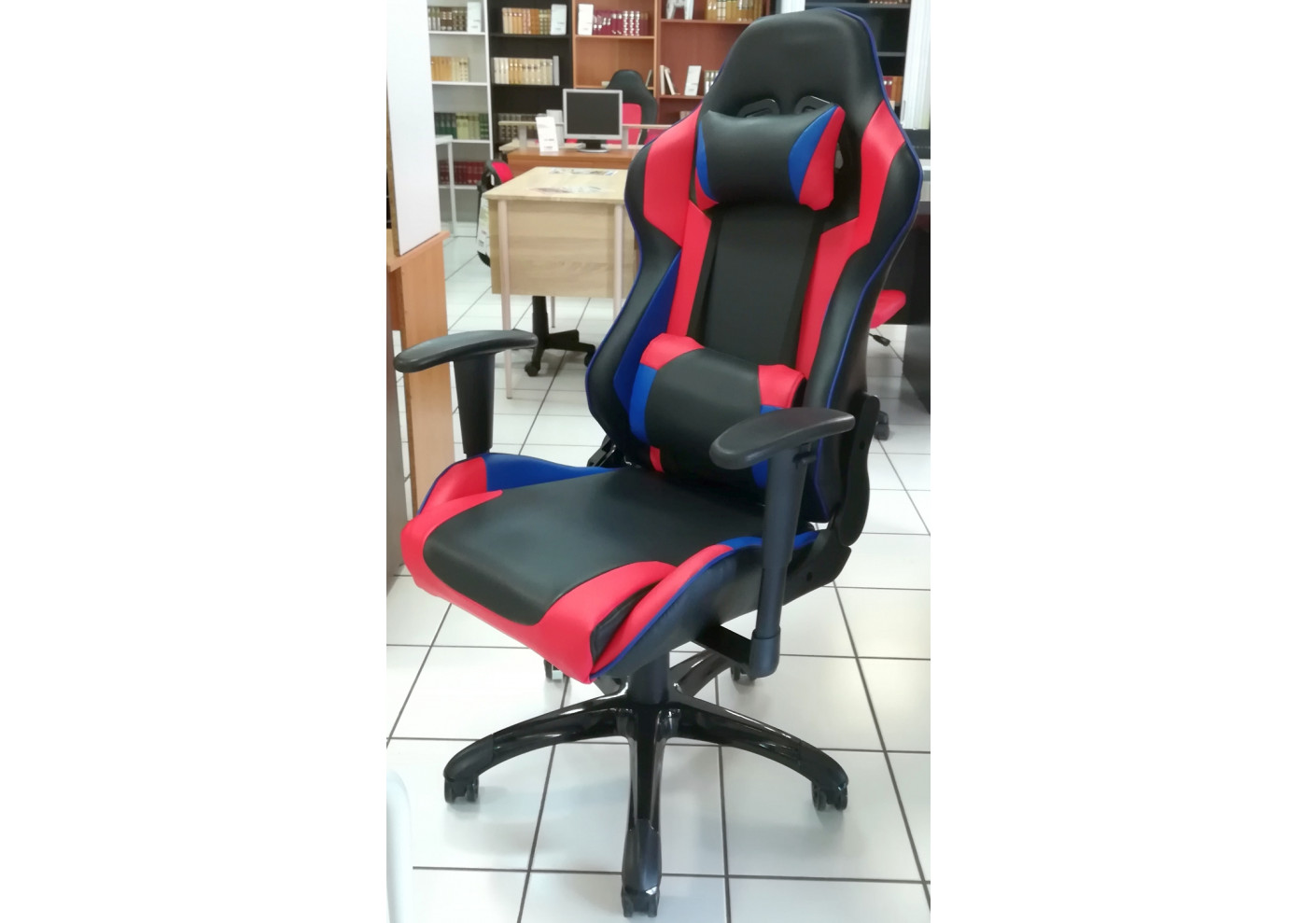 Fauteuil de bureau gamer duo noir et rouge fauteuil de bureau