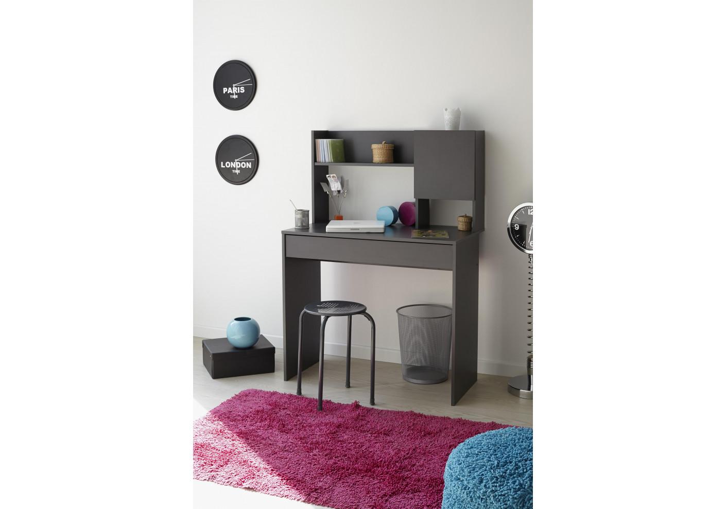 bureau buzz gris avec r hausse bureau. Black Bedroom Furniture Sets. Home Design Ideas
