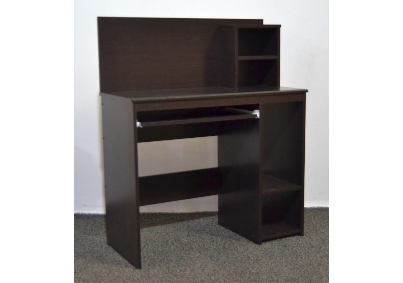 Bureau informatique plano avec sur meuble décor wenge bureaux