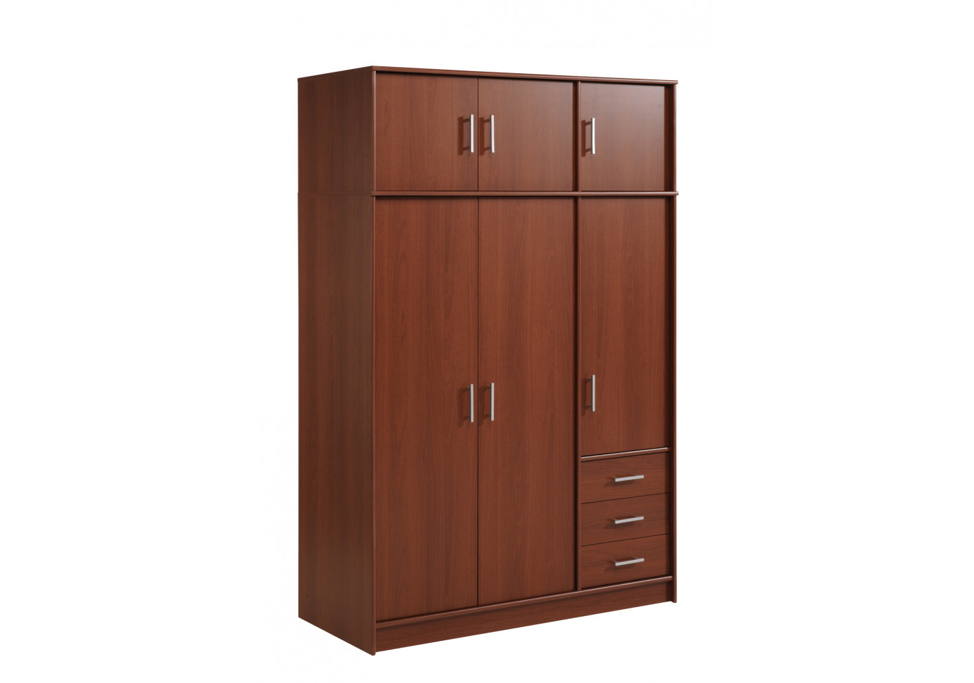 armoire essentiel 6 portes 3 tiroirs merisier. Black Bedroom Furniture Sets. Home Design Ideas
