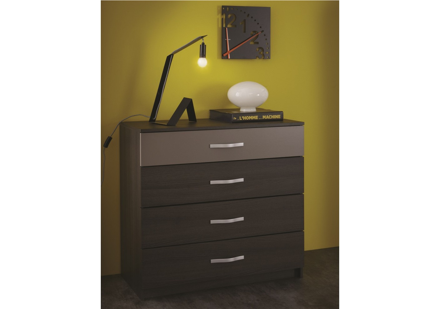Commode graphic weng 4 tiroirs - Commode 6 tiroirs wenge ...