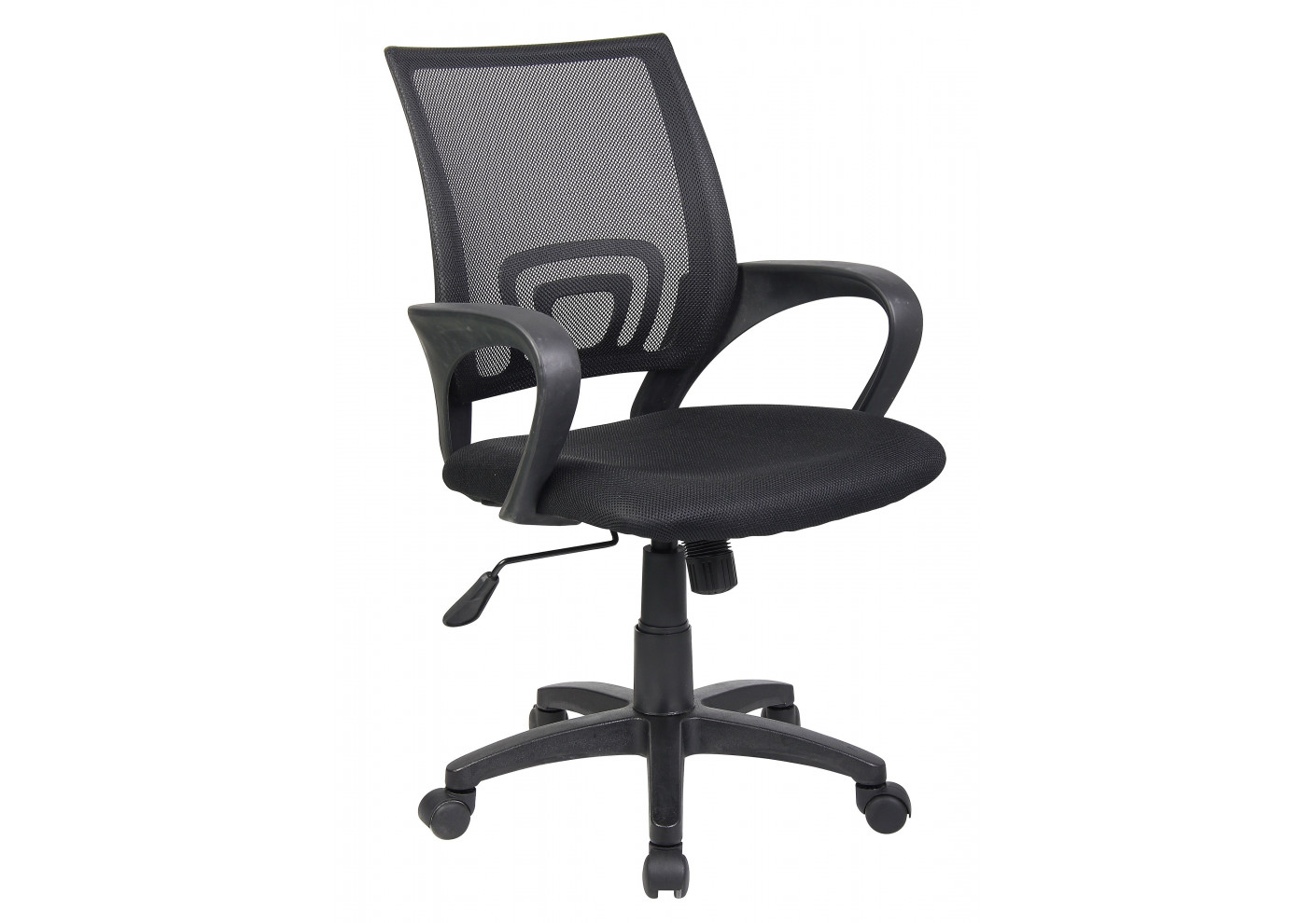 Chaise dactylo pop ii coloris noir vente de fauteuil de bureau