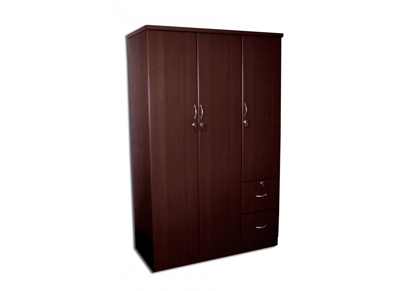 armoire rosalie 3 portes 2 tiroirs wenge armoires. Black Bedroom Furniture Sets. Home Design Ideas