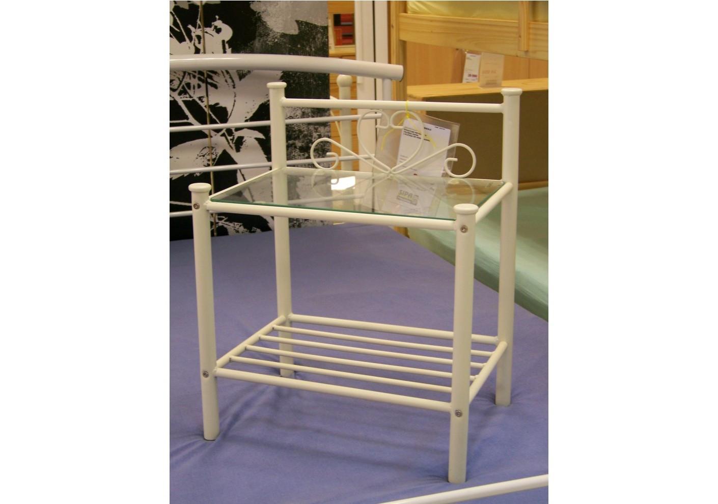 chevet aloa argent. Black Bedroom Furniture Sets. Home Design Ideas