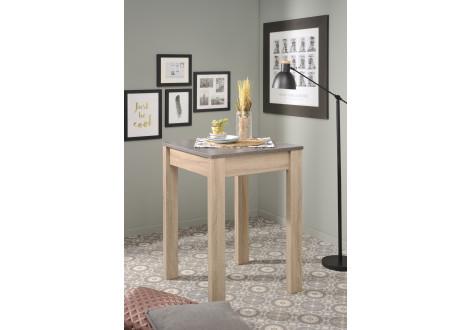 Table haute FUMAY chêne brut / béton