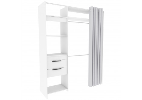 Dressing KIT blanc avec rideaux