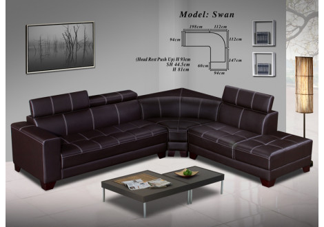 Canapé d'angle SEAN pvc coco
