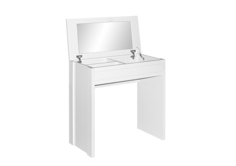 Coiffeuse 1 miroir Mysty blanche