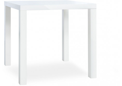 Table PRIMO blanc brillant - L 80 cm