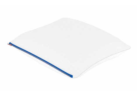 Oreiller ECOSENSE 60x60x14cm moelleux à mémoire de forme blanc