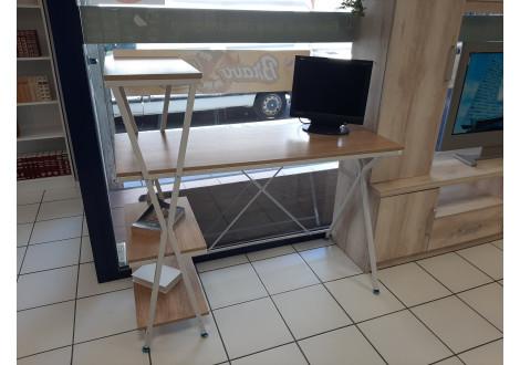Bureau informatique LOFT chêne/blanc