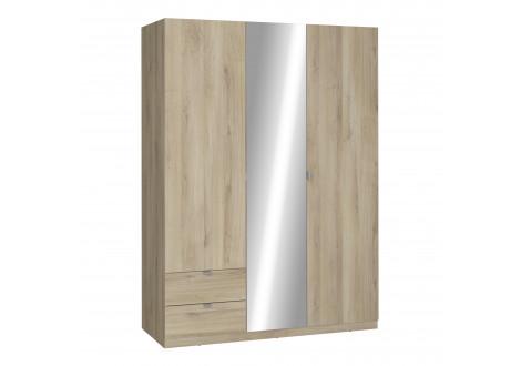 Armoire MELLIE chêne kronberg 3 portes 2 tiroirs