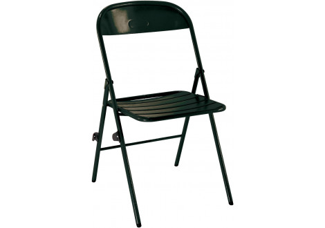 chaise pliante 1202 epoxy noir