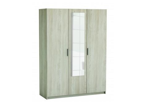 Armoire PRICY chêne shannon 3 portes