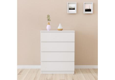 Commode 4 tiroirs HAVEN blanc