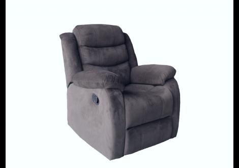 Fauteuil relax tissu micro fibre gris