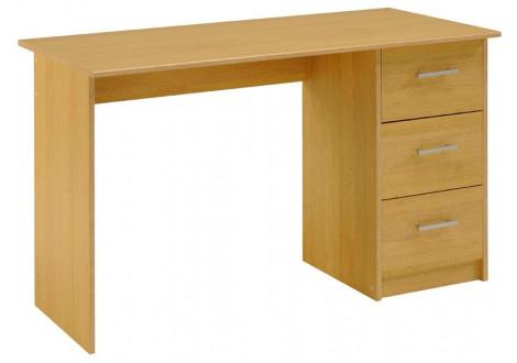 Bureau INFINI 3 tiroirs décor poirier