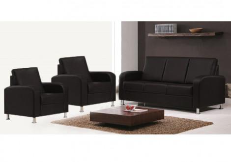 Salon 3 pièces ANNA gris: 1 canapé 3 places + 2 fauteuils 1 place