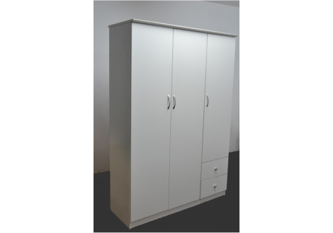 Armoire 3 portes WILLY blanc