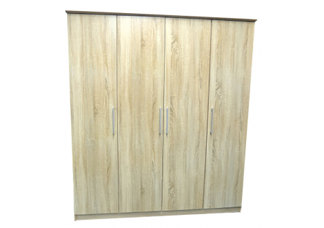 Armoire Maxi 4 portes chêne clair