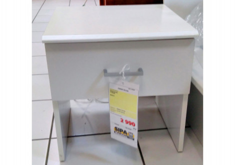 Chevet SYLVIE 1 tiroir blanc