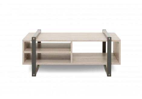 Table basse BROOKLYN anthracite/chêne sorrento
