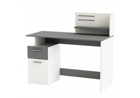 Bureau PLATON blanc et gris