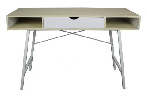 Bureau 1 tiroir LANA chêne/blanc