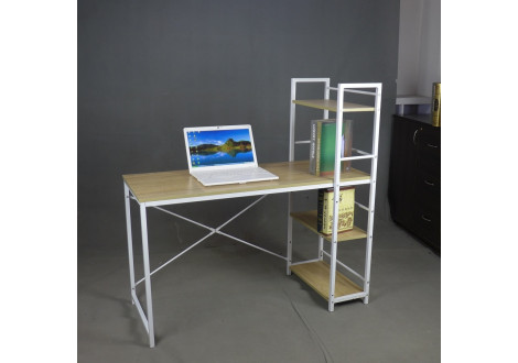 Bureau informatique STUDIO chêne/blanc