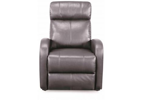 Fauteuil relax CAROLE électrique simili cuir respirant AIR gris