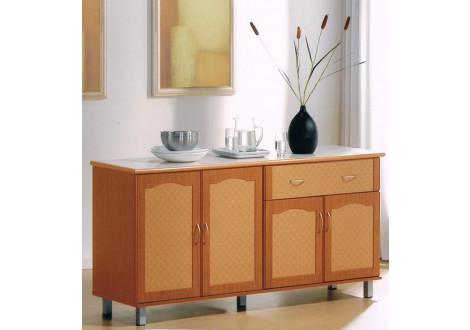 Buffet CERAMIKA III 4 portes 1 tiroir merisier