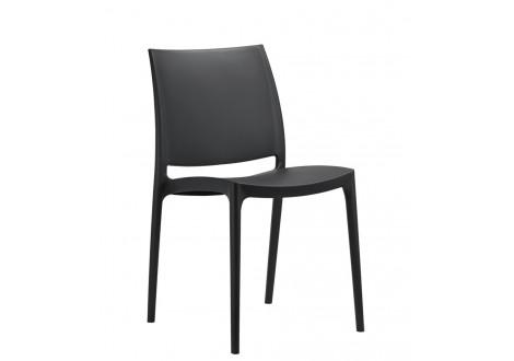 Chaise ELISE polypropylène noir